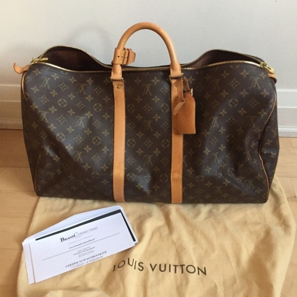 d025edb535a6 Louis Vuitton Other - Auth LOUIS VUITTON Monogram Keepall Bandouliere 55